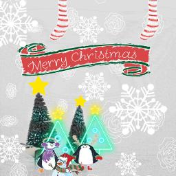 minipinguin christmastree joy l4l lfl freetoedit