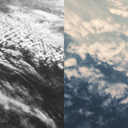 sky clouds contrasts blackandwhite blue