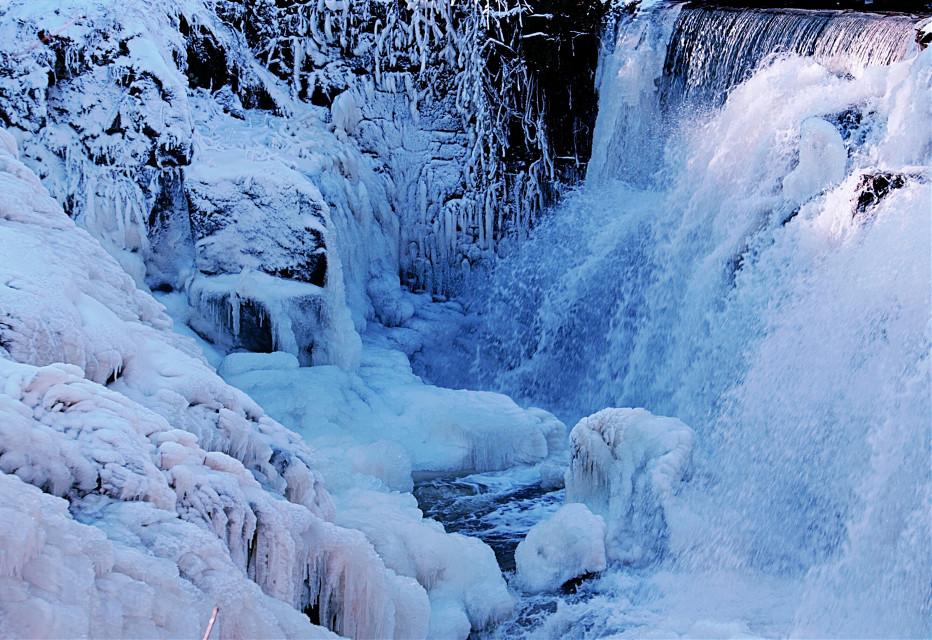 #nature #winter #waterfall