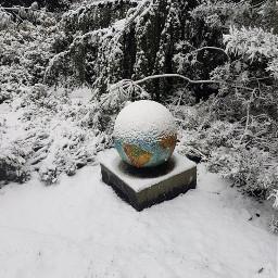 art snow globe christmastime