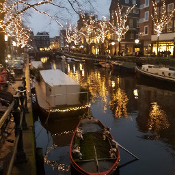 amsterdam lights canals