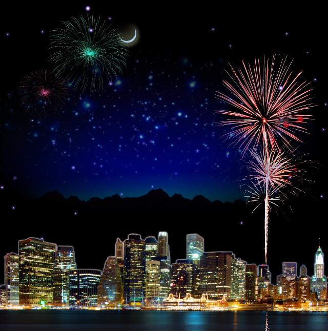 @pa #myedit #madewithpicsart #fireworks #happy #newyear