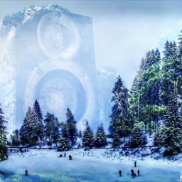mountains winter snow music chill freetoedit