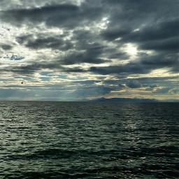 greece sky clouds cloudy sea