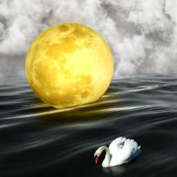 moon sea water madebypicsart editstepbystep
