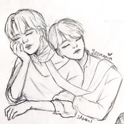 sketch doodle yoonmin bts fanart