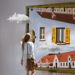 foldinglandscape girl window