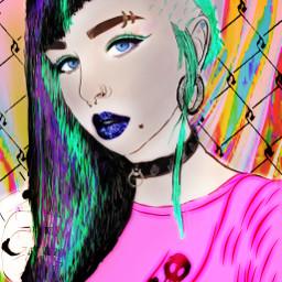 sketchremix punk draw colorflare ortoneffect freetoedit