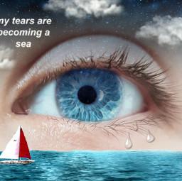 freetoedit sadness sad blueeyes crybaby