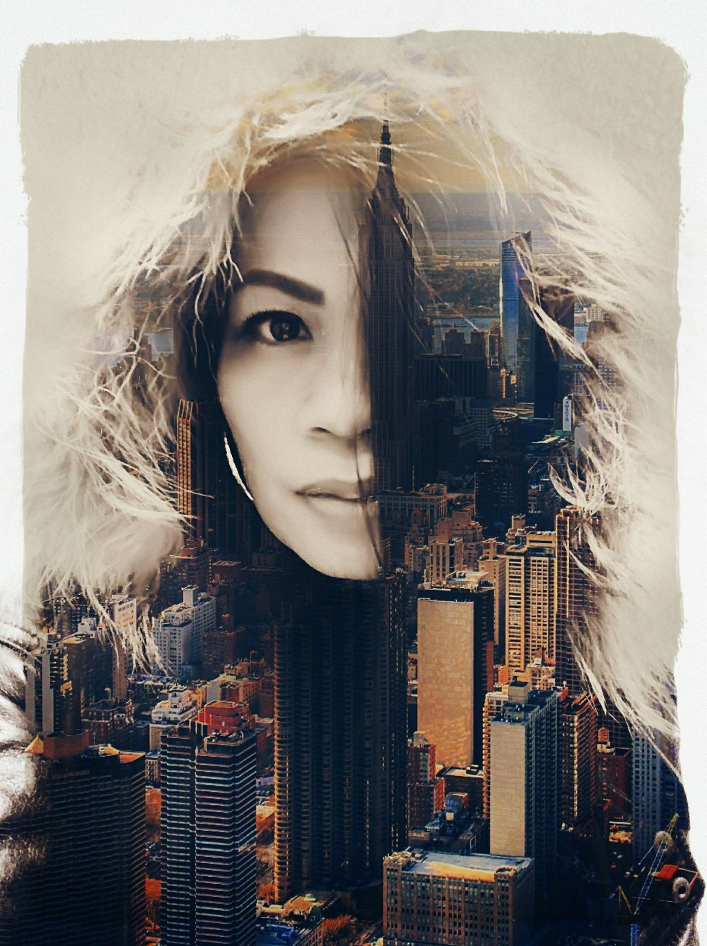 Great day for everyone😁 Image from @pixbyyolz and @agentsmith0047   #doubleexposure #photoblending #madewithpicsart #drawtool #buildings #nyc #architecture #mask #border #editstepbystep #myedit #cineramaeffect