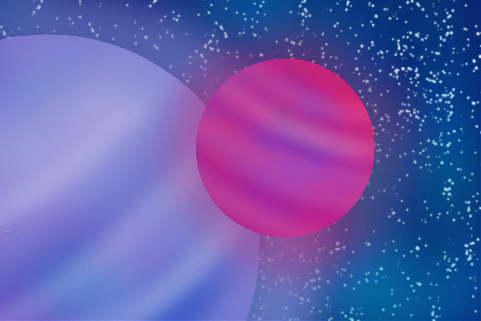 #drawing #planets #space #stars
