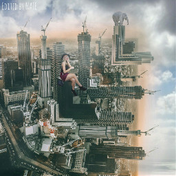 freetoedit foldinglandscape edgeoftheworld city myedit