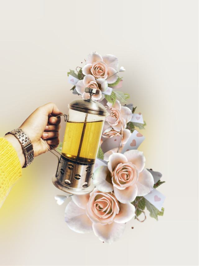 Have a lovely Monday!!! #tealove #flowers #greentea #roses #madewithpicsart