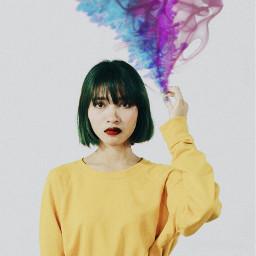 freetoedit colorfuloutline tumblr girlinyellowremix