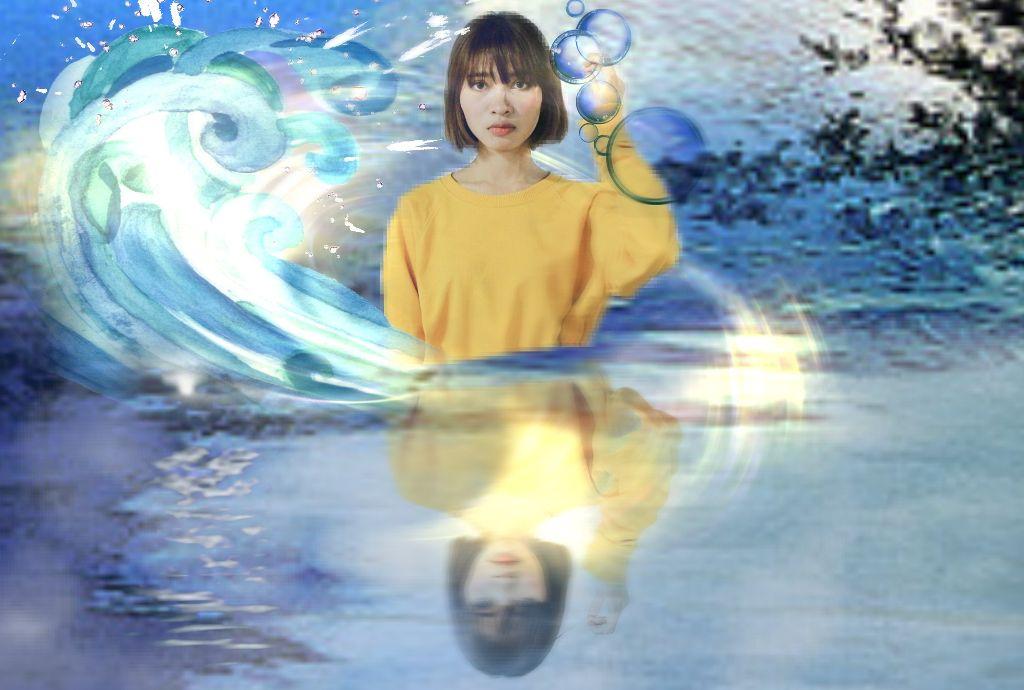#dailyremix  #water #mirroreffect #motionblureffect #dodgereffect #girlinyellowremix