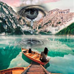 freetoedit mixedmedia surreal openyoureye eye