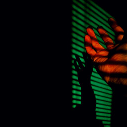 photography colorful shadow hand
