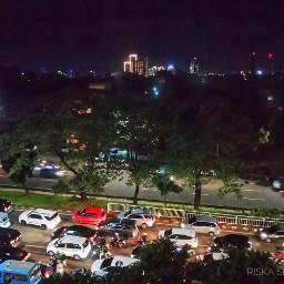 jakarta city night cityscape cityview