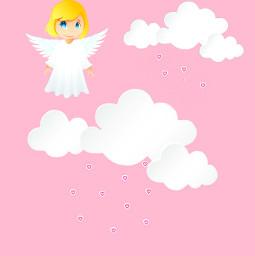 freetoedit minimaledit angel girl cute