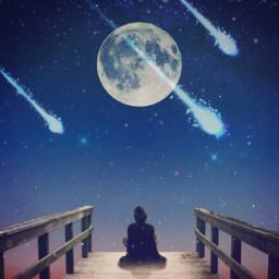 freetoedit skywatching nightsky bluemoonremix