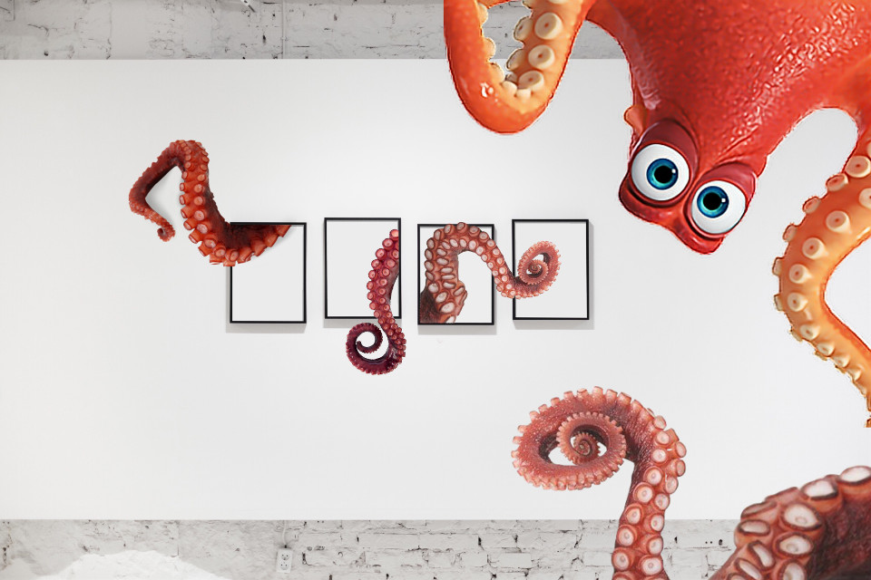 #freetoedit #octopus #wall #frame #surreal #imagination