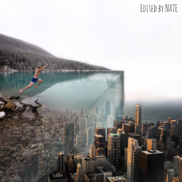 foldinglandscape edgeoftheworld city water myedit