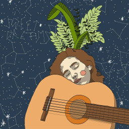 digitalart selfportrait plants adobeillustrator