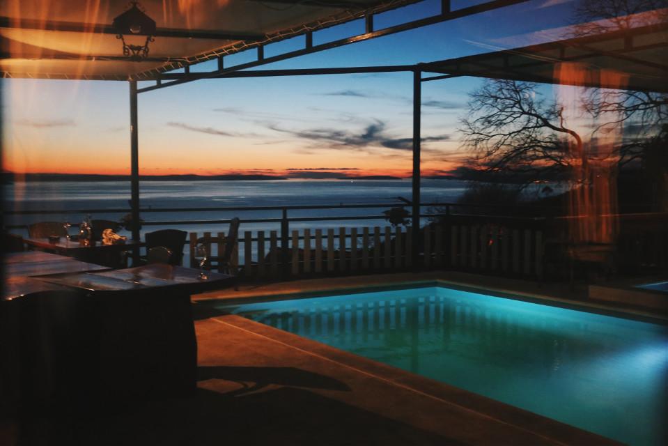 #dalmatia #photpgraphy #winternights #pool #sea #sunset #beautiful #croatia #perfectendingtoaperfectday