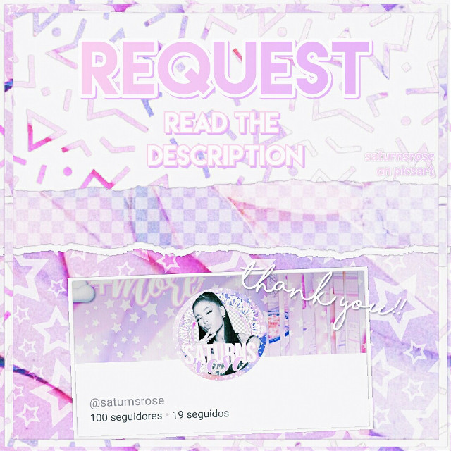🌸Hi❤ this is a double post to thank for the 100 followers and to accept requests  ☁how to request: you must comment the resource you need/want to see in this account, for example: overlays, templates, stickers, etc.  Please be specific as possible, ex: purple flower overlay, blue templates