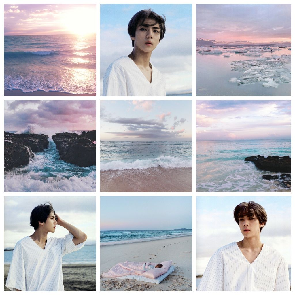 I'm in the mood to make some beach aesthetics  Oh Sehun
