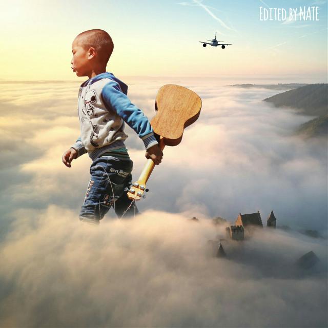 #boy #myedit #freetoedit (Photo of boy by kychan, photo of sky by Marc Marchal on Unsplash)