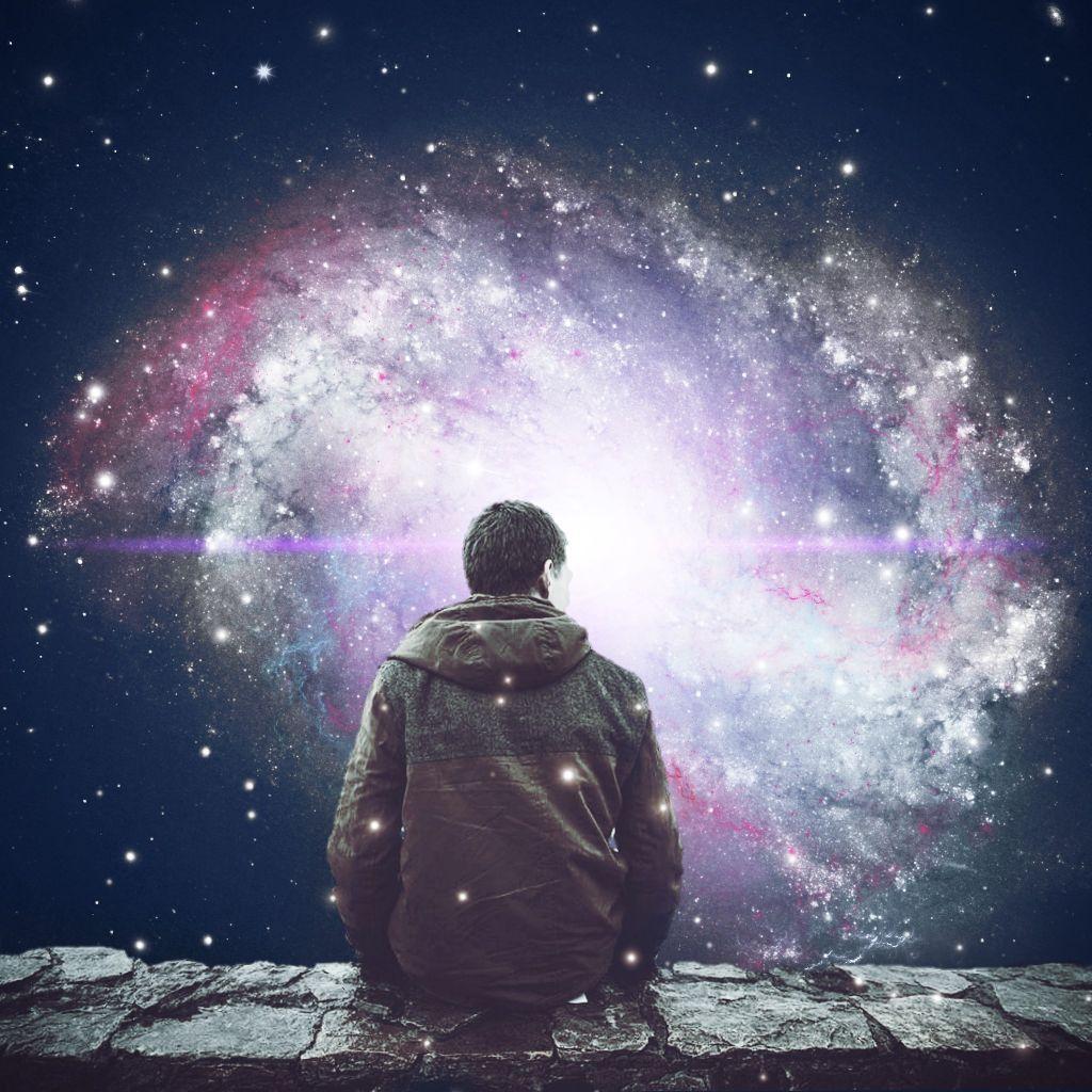 #guy #man #galaxy #stars #universe #sitting #stone #wall #surrealism #picsart #light #glare guy :unsplash  #freetoedit