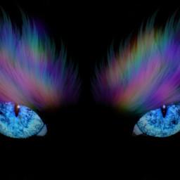 freetoedit dailysticker wings eyes rainbow