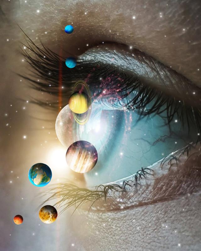 #freetoedit #eye #planets #closeup #galaxy #stars  #vipbrushtool #beautiful #surreal #picsart #wonderful #majestic #surrrealism #dumb #nofeature #:/