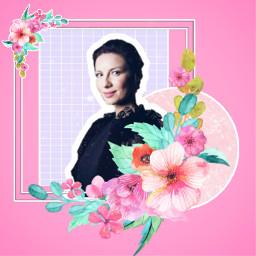 freetoedit caitrionabalfe outlander outlanderserie clairefraser pink flowers outlandermx outlanderfanart