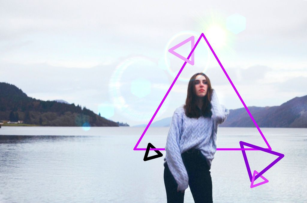 #freetoedit #colors #triangles #purple #girl #drawingtools #madewithpicsart