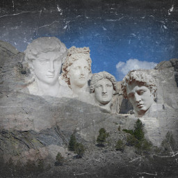 freetoedit remixoftheday mtrushmore presidentsday sculpture