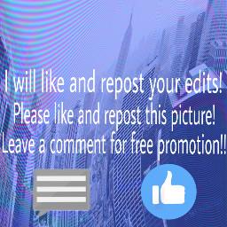 freetoedit promotion freepromotions like comment