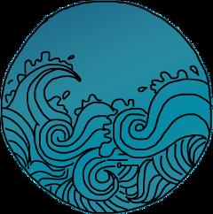 freetoedit doodles sketched blue wave