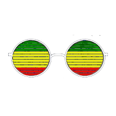 freetoedit lunette glass dailyremix rasta