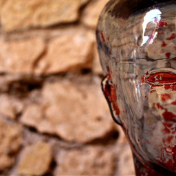 photography sculpture glass face red freetoedit