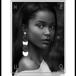 freetoedit picsart earings blackandwhite beauty
