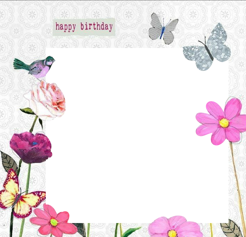 Fine Happy Birthday Photo Frame Sketch - Framed Art Ideas ...