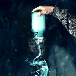 conseptual hand jar smoke vipbrushtool freetoedit