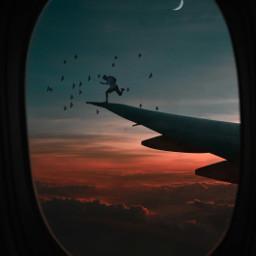 vipshoutout night sky stars man freetoedit
