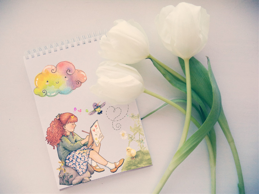 #freetoedit#edit#art#flowers#cute#girl#clouds#colors#hdr