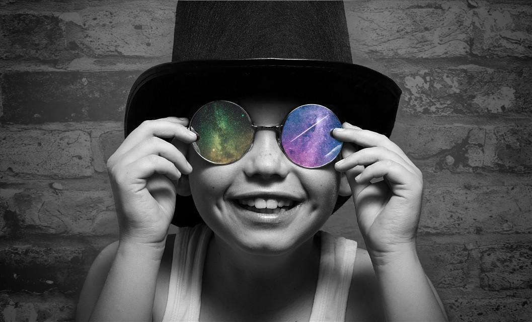 #freetoedit #smile #kids #milkyway #blackandwhite