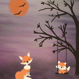 dcwildlife mydrawing foxes