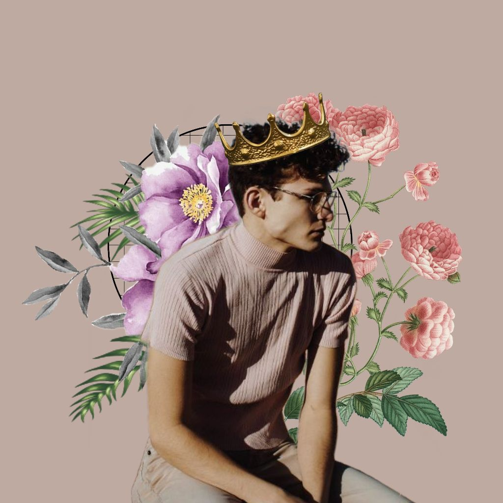 Flowerboy Pastel Flower Plant Crown King Edit