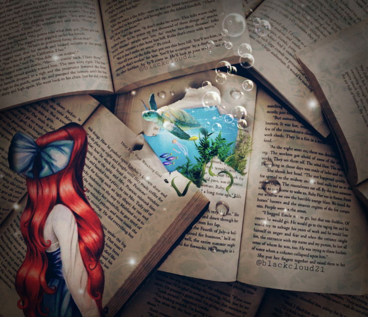 #ecfairytale #fairytale #madewithpicsart #madebyme #nature #book #sea #fish #tortoise #ariel #magic #magical @picsart Op from Unsplash